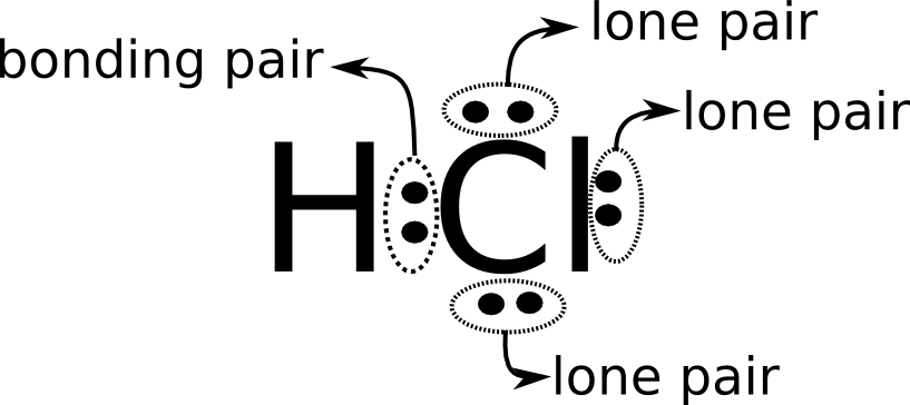 Lewis diagram of HCl